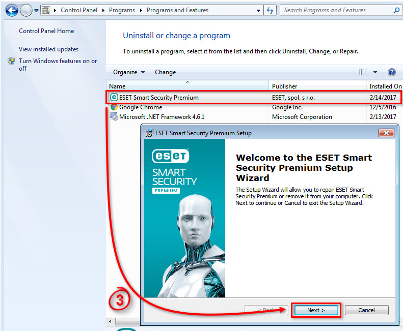 Uninstall An Eset Security Windows 7