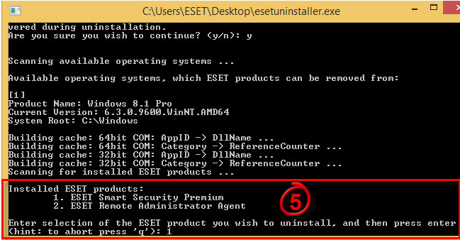 Uninstall The Eset Security Windows 7